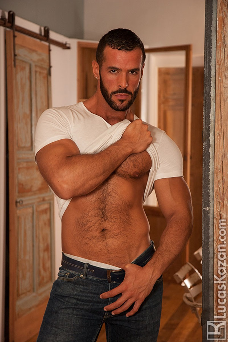 LucasKazan-sexy-Spanish-muscle-hunk-Denis-Vega-hairy-chest-Spaniard-real-muscled-man-huge-erect-dick-tanned-dark-hair-ripped-six-pack-abs-01-gay-porn-star-sex-video-gallery-photo