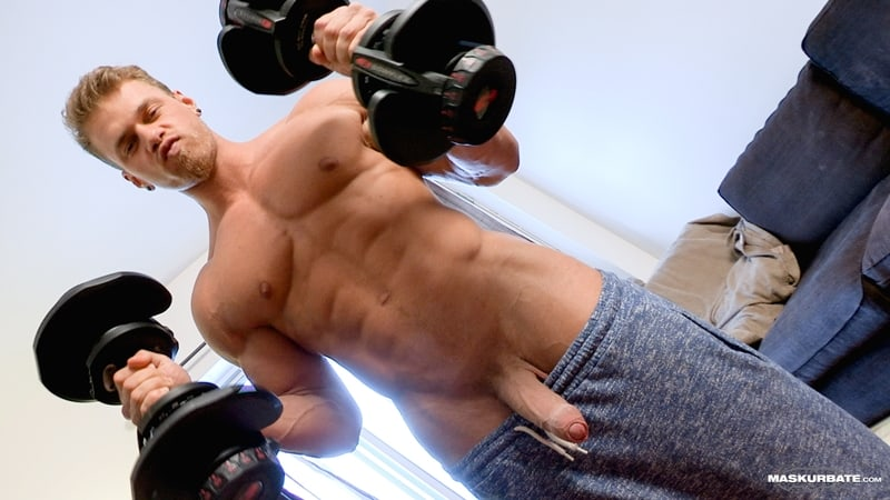 Big-muscle-man-Maskurbate-Brad-strips-naked-jerking-huge-uncut-dick-cum-001-Gay-Porn-Pics